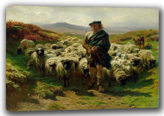 Bonheur, Rosa: The Highland Shepherd. Fine Art Canvas. Sizes: A4/A3/A2/A1 (001597)